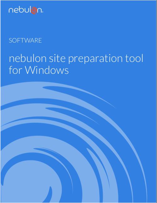 Nebulon Site Preparation Tool for Windows
